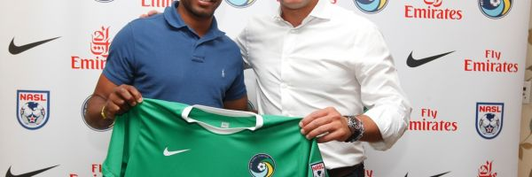 Presentation of Marcos Senna as a player for the New York Cosmos