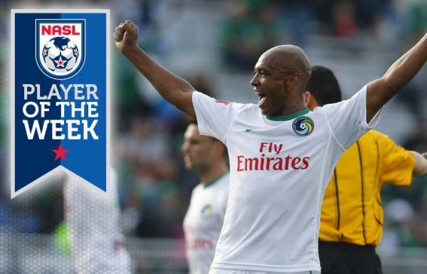 Marcos Senna is named the player of the week by the NASL