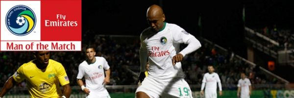 MARCOS SENNA NAMED EMIRATES COSMOS MAN OF THE MATCH IN 2-0 WIN OVER TAMPA BAY